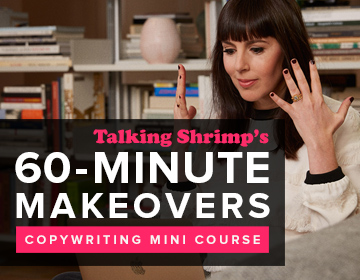 Talking Shrimp's 60-minute Makeovers